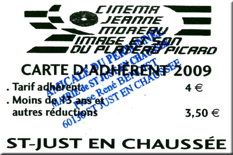 Carte de réduction Cénéma Jeanne Moreau